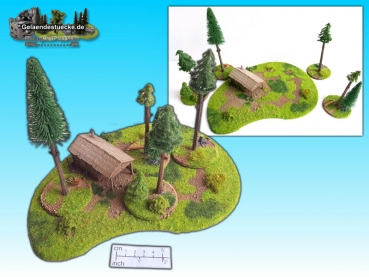 wooden cabin in forest (15mm)