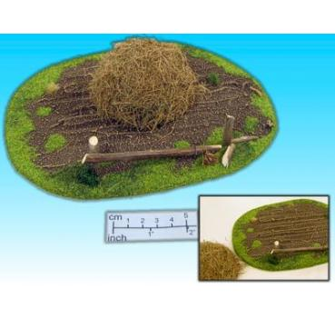 field with heap of straw (2 pcs.)