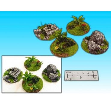 bushes and stone set