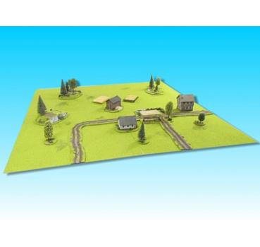 "15mm game board 48"" x 48"" with scenery"