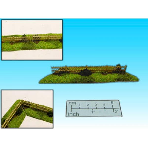cross wooden fences (15mm)
