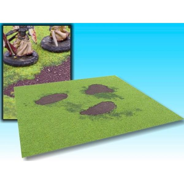 board grass with ground