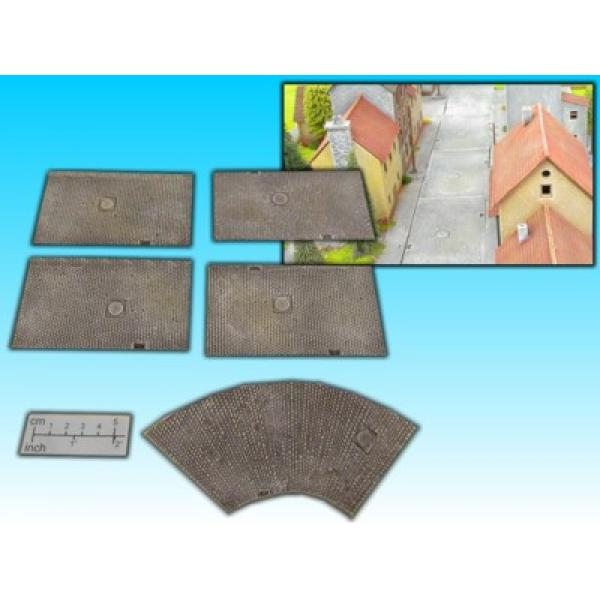 cobblestone streetset for 15mm (5 pcs.)
